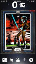 Topps Star Wars Digital Card Trader Blue Aayla Secura Card Trader Illus. Insert