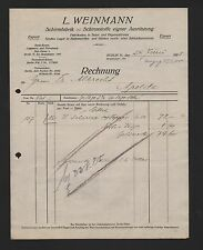 Berlín, factura 1925, l. Weinmann paraguas fábrica sustancias paraguas