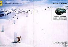 Publicité Advertising 2001 (2 pages) Renault Scénic RX 4 Salomon