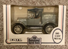 "ERTL 1918 Die Cast Metal Runabout Barrel Bank ""Agway"" 1:25 Locking Coin Bank"