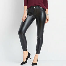 Maurices Black Faux Leather Skinny Stretch Pants Jeans NWT Size 4