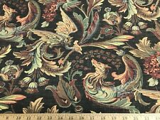 """Black Livorna By Thibaut Fabric Linen Cotton Drapery/Upholstery Fabric 57"""" W BTY"""