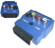 ADATTATORE VIDEO SCART RGB a RCA 3 x RCA + S-VIDEO + SWITCH COMMUTATORE