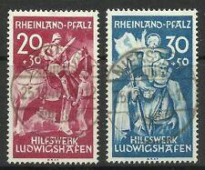 GERMANY-FRENCH ZONE-RHEIN. 1948. Explosion Relief Fund Set. SG: FR30/31. FU