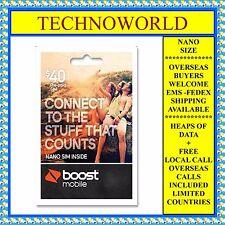 BOOST $40 PREPAID SIM CARD+UNLIMITED CALL/TEXT+9GB DATA+FREE INTERNATIONAL CALLS