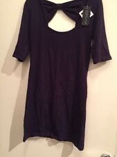 BNWT Purple Bow Back Top Topshop Size 10