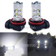 2x 50W CREE Fog Light H11 6000K Super White LED Bulbs for Chevy Cruze Equinox