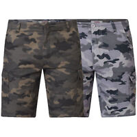 Mens Camo Cargo Shorts D555 Duke King Size Marty Military Army Knee Length New