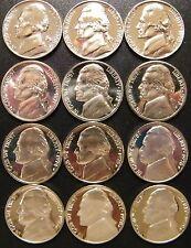 1968-1979 S Jefferson Nickel Gem Proof Set Run 12 Coin Run US Mint Lot