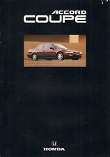 Honda Accord Coupe 2.0i 1992-93 UK Market Sales Brochure
