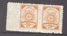 LATVIA LETTLAND 20 KAP.SC.78 WOVE PAPER * ERROR * MINT ARMS 4250