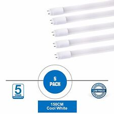 5 X LED T8 Light Tube 5ft Fluorescent Light Tube Replacement Cool White Retrofit