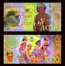 Netherlands Guinea (Ghana) 1000 Gulden, 2016 Private Issue POLYMER, UNC > Monkey