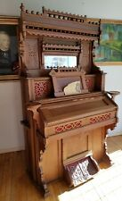 Antique Victorian Collins & Armstrong Pump Parlor Organ Intricate Ornate