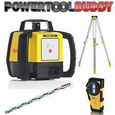 Leica rugby 610 outdoor laser level 812618 kit (alkaline) With Tripod & Staff