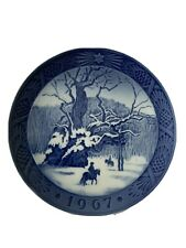 Royal Copenhagen Denmark 7� Christmas Plate 1967 The Royal Oak
