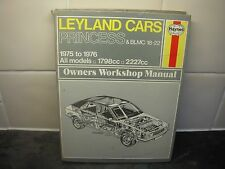 LEYLAND CARS PRINCIPESSE & BLMC 18-22 Haynes Manuale 1975-76