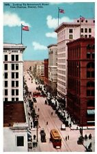 Vintage postcard Looking Up Seventeenth Street from Champa, Denver Colorado