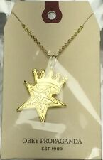 "Obey ""Star Crown"" Necklace 18K Gold"