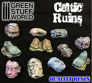Celtic Ruins - Resin - Miniature Bases Celts Diorama Warhammer Highlands