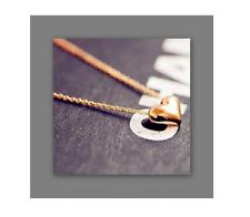 collier chaîne pendentif doré breloque COEUR PLEIN amour  ! idée cadeau ! NEUF