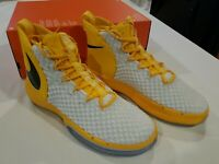 Nike Mens Alphadunk TB Promo Basketball Shoes Sz-12.5 Amarillo/Wh/Blk CN9491-703