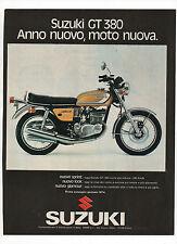 Pubblicità epoca 1973 SUZUKI GT 380 MOTO MOTOR advertising werbung reklame