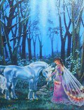 Dyan Allaire UNDER THE FAERIE MOON Embellished Cross Stitch Kit Fairy Unicorn
