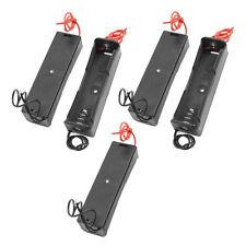 Fashion 5Pcs 1x 18650 Black Plastic Rechargeable Battery Case Holder Storage Box