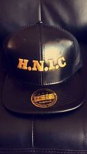 Head Ni** In charge, HNIC. All black leather snapback mesh hat