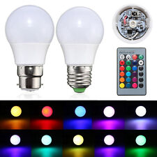 3/5/10/20W E27 B22 RGB 16 Color Changing LED Light Lamp Bulb + IR Remote Control