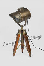 Brass Antique Metal Modern Tripod Table Lamp