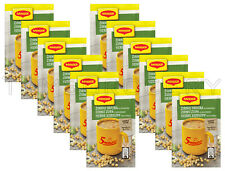 12 x MAGGI Instant Soup Packs Yellow Pea & Bacon with Croutons Flavor