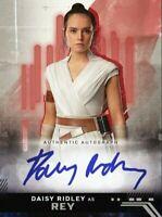 Topps Star Wars Card Trader Digital RISE OF SKYWALKER RED SIGNATURE Rey