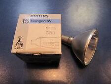 15w 6v 4° Philips Halogen Aluminum Reflector Spectro B15d 6425