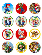 "12 SUPER MARIO 2"" CUPCAKE EDIBLE ICING IMAGES CAKE TOPPERS"