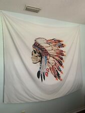 Native American Chief Skull Tapestry