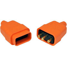 10 AMP 3 Pin Connecter Orange - Flex Connector - 10 Amp 220-250V  - 81438