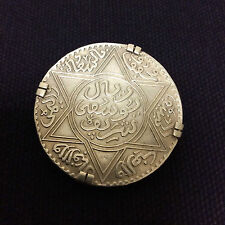 Broche MAROC PROTECTORAT FRANÇAIS 5 Dirhams Moulay Youssef I an 1336 - 1917