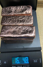 New listing 99% Copper Ingot Bar Hand Poured Cu 16+lbs!