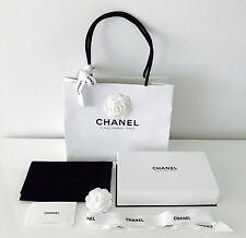 New AUTH Chanel Velvet pouch White Gift Box Paper gift Bag 31 Rue Cambon- Paris