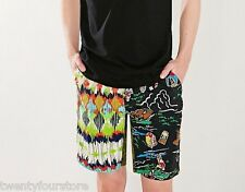 NWT $65 RARE Columbia Mt Sparks Short Colorful Camping Graphic Print sz XL