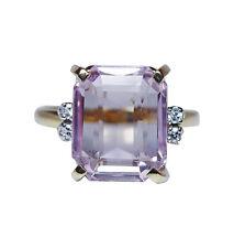 Designer H. Stern Kunzite Diamond Ring 18K Gold Platinum Vintage Estate Signed