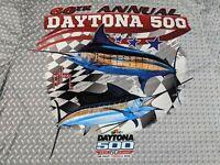 Guy Harvey NASCAR Daytona 500 2018 diamond plate Long Sleeve Shirt men's XXXL