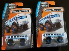 2015 MATCHBOX MBX ADVENTURE CITY  #19 SCHOLAR HAULER SCHOOL BUS LOT of 2