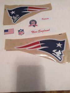 Current New England Patriots F/S Football Helmet Decal w/50th Anniversary
