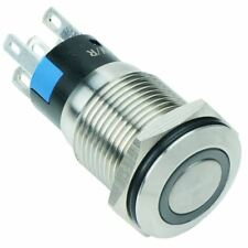 Blue LED 16mm Momentary Vandal Resistant Switch 3A SPDT