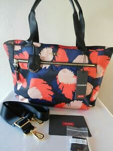 New Tumi Voyageur Mauren Business Casual Floral Carry-All Laptop Tote Bag