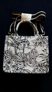 H&M JACQUARD WEAVE SMALL BAG HANDBAG BLACK & CREAM LIMITED EDITION BRAND NEW