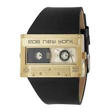 EOS Mixtape Music Cassette Tape Watch in Black and Gold 302SBLKGLD New in Box